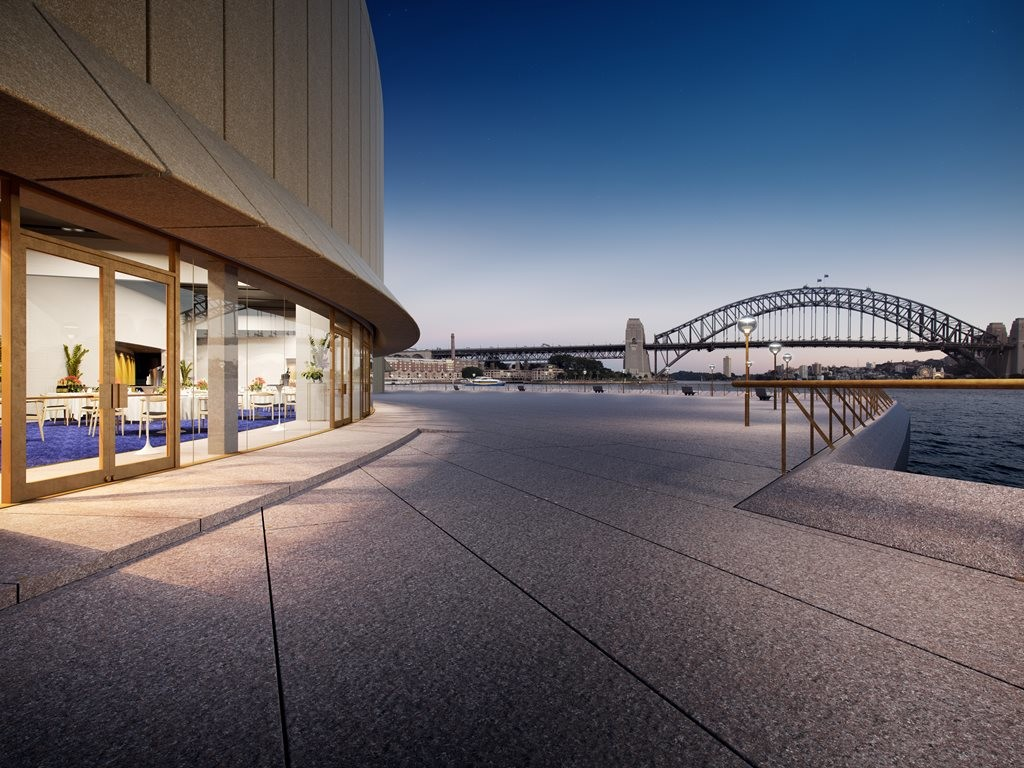 The new Function Centre will open up views to Sydney Harbour. Image: Sydney Opera House