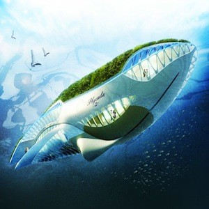 Whale Shaped Floating Garden Travels The World Cleaning