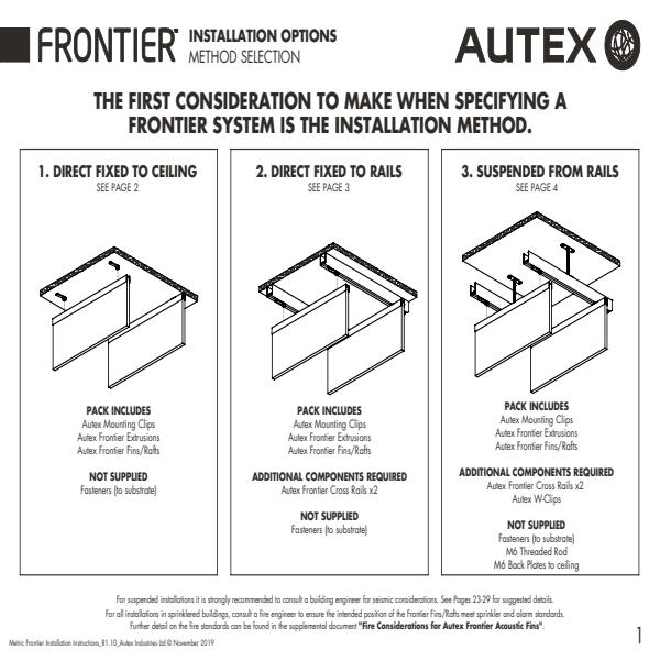 Autex Frontier Installation Instructions