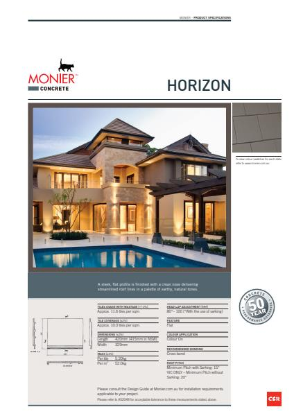 Monier Horizon Data Sheet