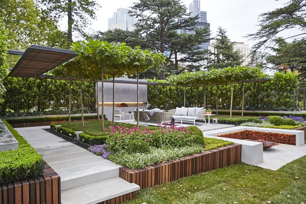 Landscape architect wins melbourne show garden gold medal for Garden designs melbourne