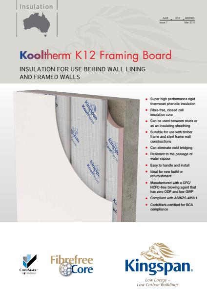 Kooltherm K12 Framing Board brochure