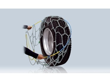 RUD-matic MAXI high-traction snow chains for trucks and