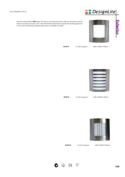 DesignLite Stainless Steel Wall Mounted Product Information