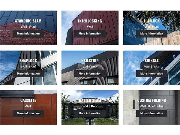 Specifying metal cladding