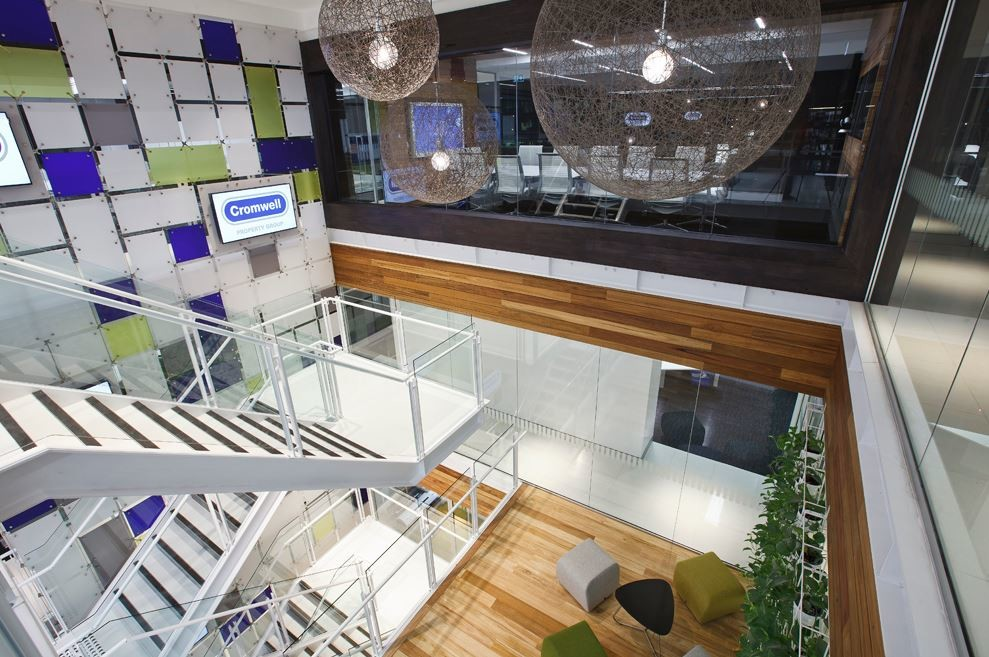 Pictured: Indoor plants feature in the Cromwell Property Group's office fitout - a finalist in the 2015 Sustainability Awards