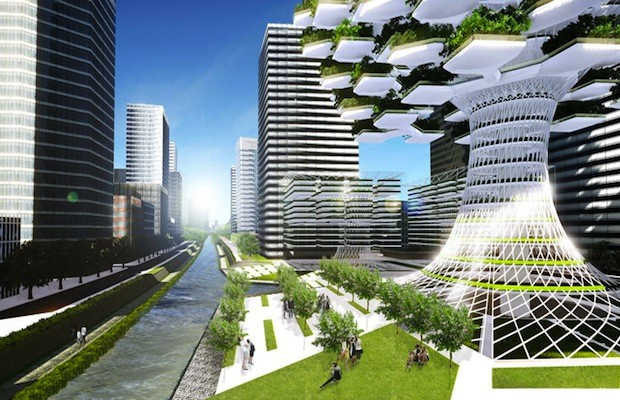Tree Shaped Urban Skyfarm Provides Food And Renewable