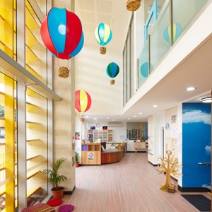 Child care centre designed from kid's perspective but uses grown up materials