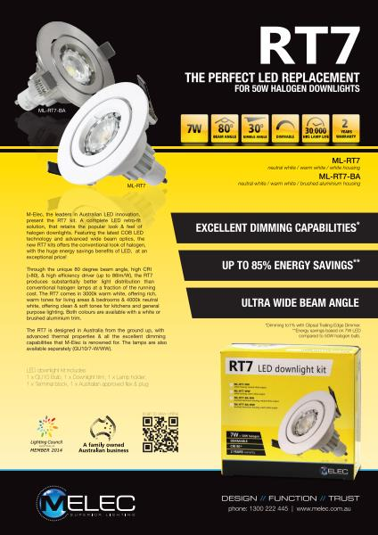 M-Elec RT7 LED Downlights