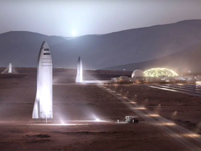 An artist's impression of the Mars colonisation. Image: SpaceX