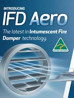 The IFD Aero is designed for air to cut straight across the blade, reducing airflow resistance and noise levels in everyday use