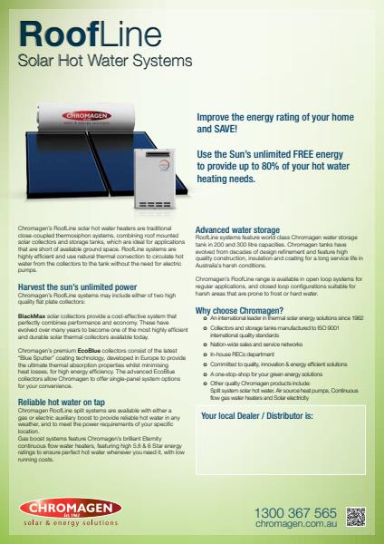 Roofline Solar Hot Water Systems
