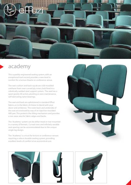 Effuzi Academy  Engineered Seating Range