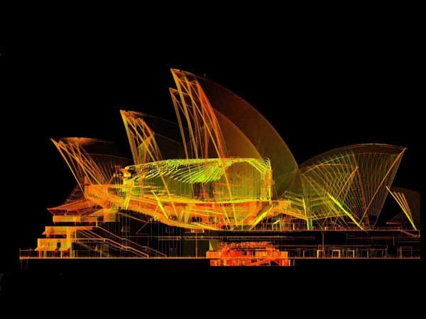 Point cloud data captured by The Scottish Ten two years ago will be linked to the new Opera House BIM interface
