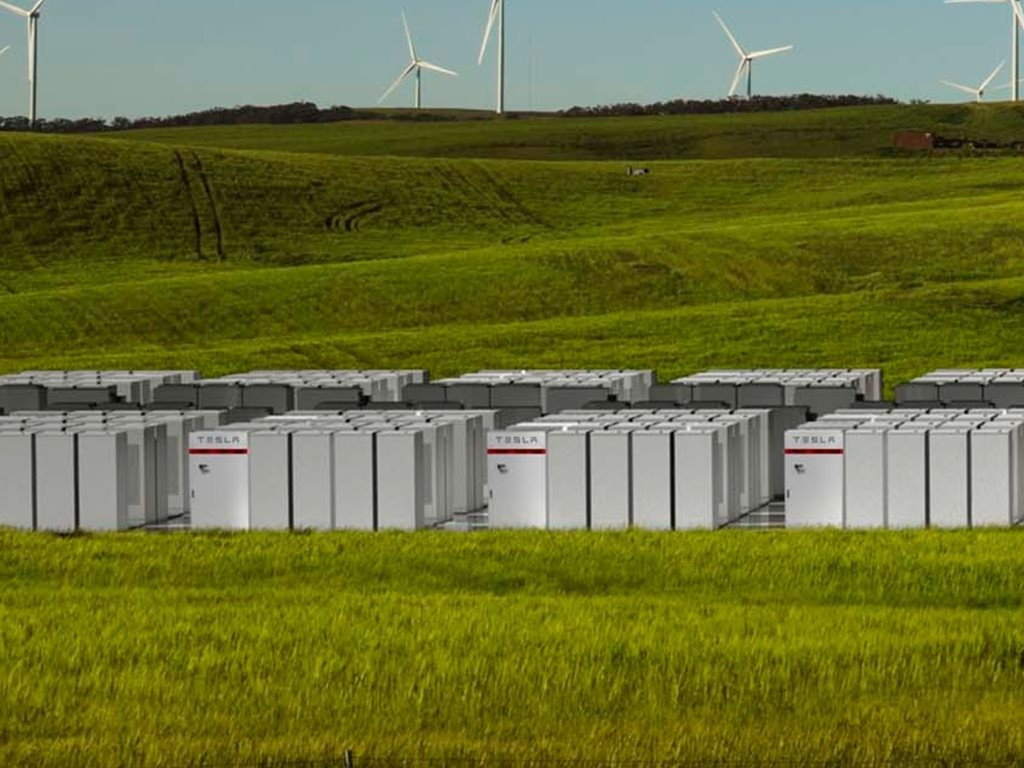 Known as the world's largest gridscale battery, the Hornsdale Power Reserve battery project had already been more than halfway completed by the project signing date. Image: Teslarati