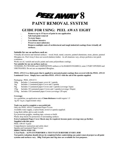 PAINT REMOVAL SYSTEM