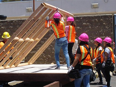 Camp NAWIC encourages young women to enter construction. Image: NAWIC