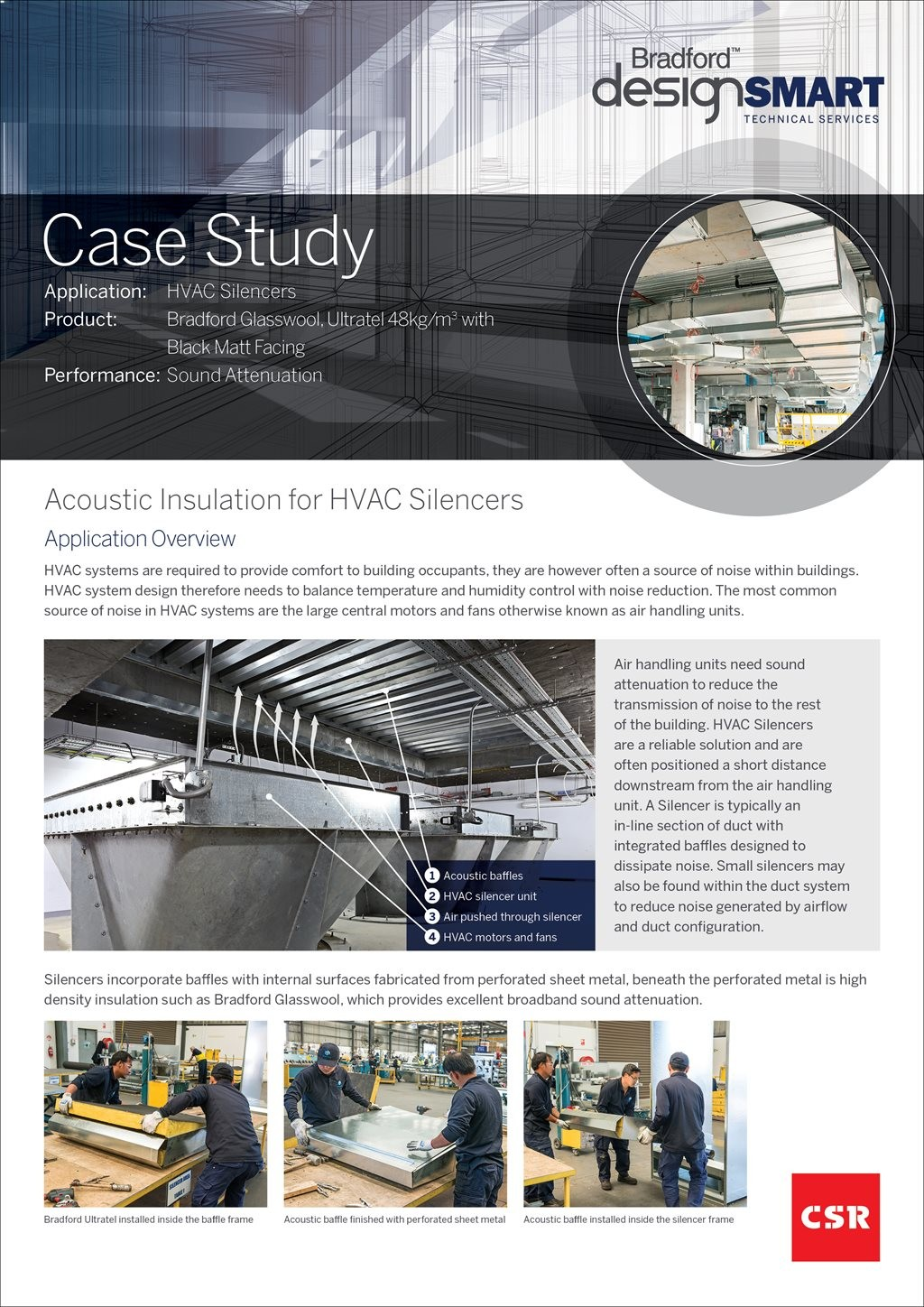 Case Study Acoustic Insulation For Hvac Silencers