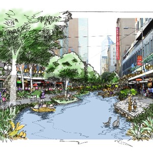 Rainforest Creek For Melbourne Cbd Gilbert Rochecouste