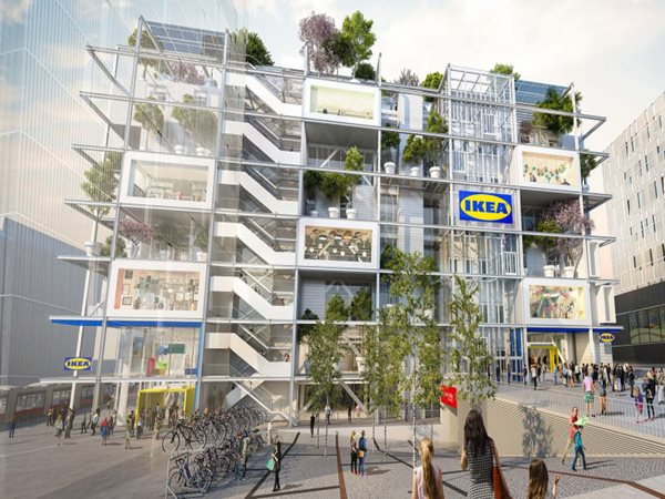 IKEA's new carpark-less store