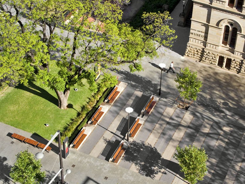 North Terrace Redevelopment by Peter Elliott Architecture + Urban Design. Image: Peter Elliott Architecture + Urban Design