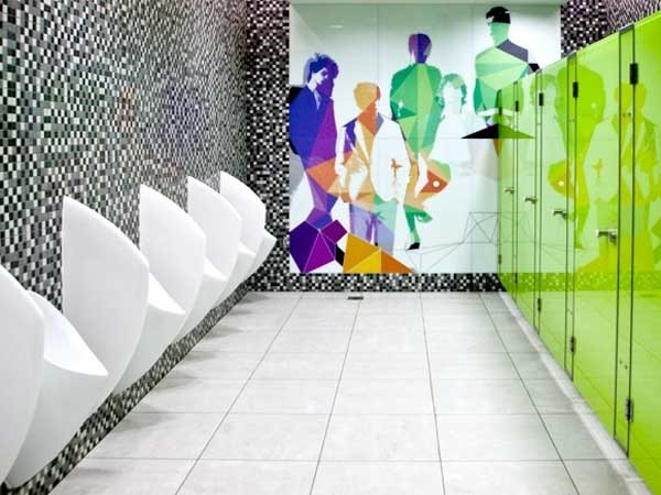 Uridan Admiral urinals and Spinnaker privacy screens