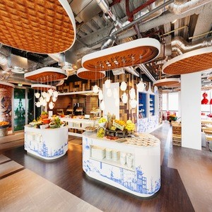 Waffle Shaped Ceiling Panels And Kitschy D 233 Cor Feature In
