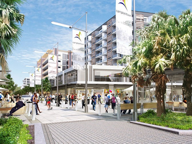 NSW says it is planning to better connect homes, jobs and open space close to the seven train stations between Glenfield and Macarthur in south-west Sydney in order to provide more opportunities for people to live close to work. Image: Supplied