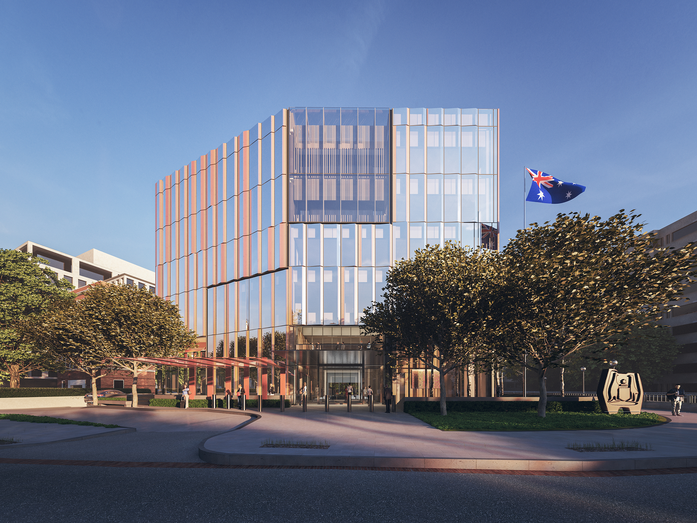 Bates Smart-designed Australian Embassy to be the greenest possible. Image: Supplied