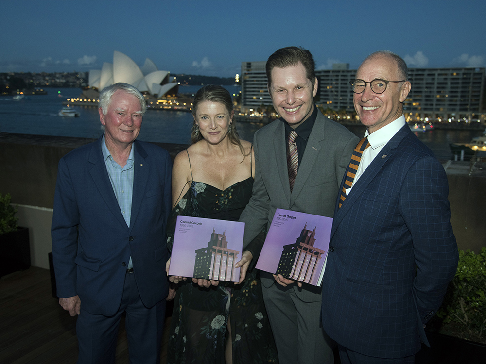Conrad Gargett Sydney Book Launch (from left to right): Chris Johnson, Laura Cockburn,  Lawrence Toaldo and Bruce Wolfe.