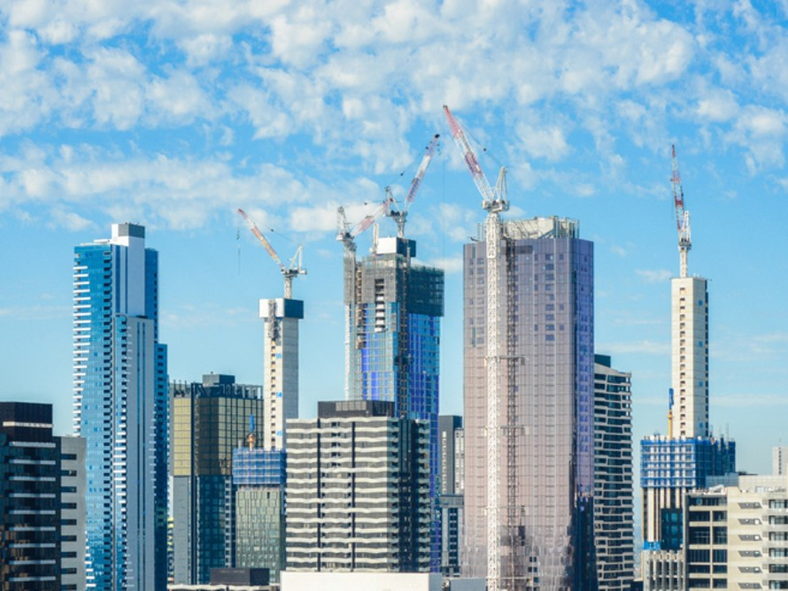 Melbourne, city of cranes. Image: Shutterstock
