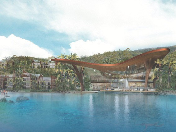 The proposed Lindeman Island Great Barrier Reef Resort. Image: Department of State Development