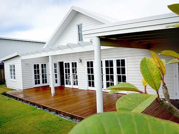 Built by Eco-Essence Homes featuring Scyon Linea weatherboards