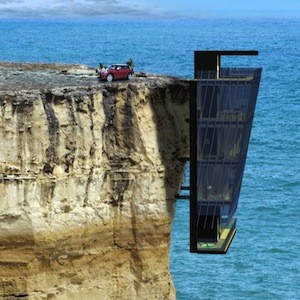 Five Storey Modular House Clings To A Cliff Face Like A
