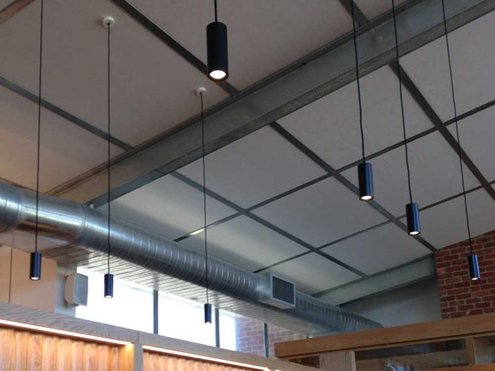 Durra panel ceiling system interior