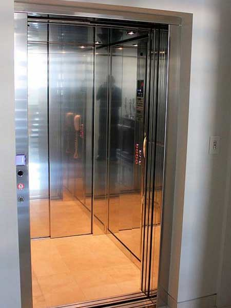 Supermec residential lift was specified for the beach home