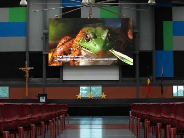 Ci's LED display screen at Marymede Catholic College