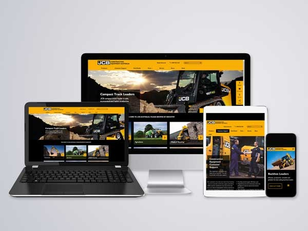 The all new JCB CEA website is optimised for use across mobiles, tablets and desktops