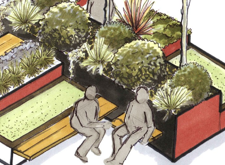 "Green Square is one of six shortlisted designs for a pop-up ""micro park"" to be built in Canberra. Image: ACT government"