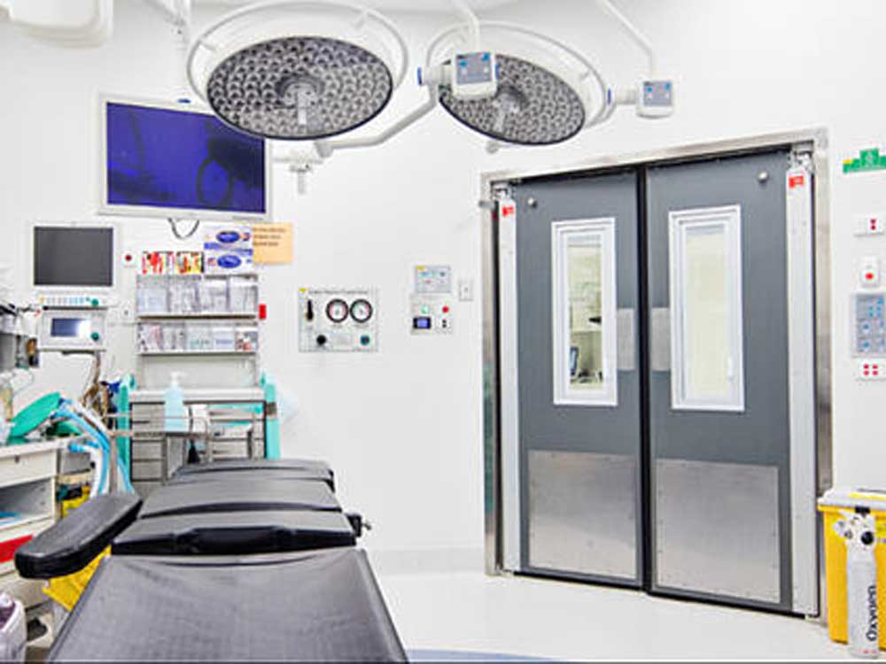 Hospital theatre swing doors