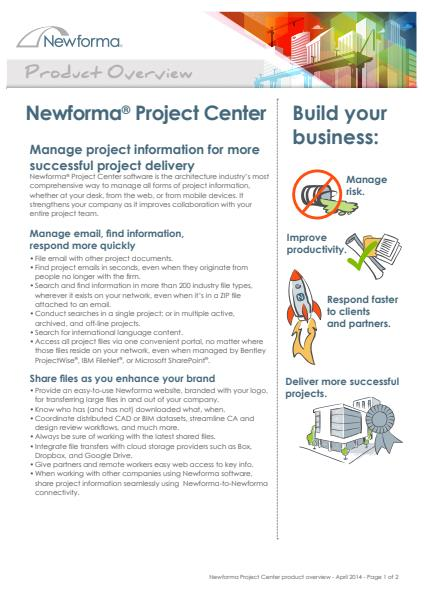Engineering ​Newforma® Project Centre Software
