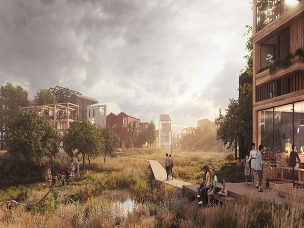 Henning Larsen designs an all-timber community in Copenhagen