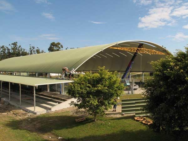 Spantech Shade Structure Provides Cover To Multipurpose
