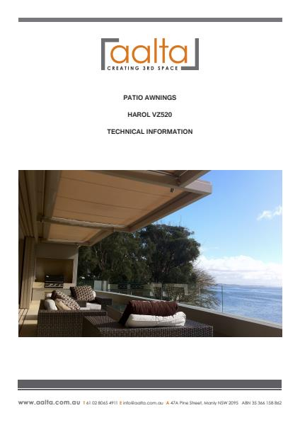 Patio Awning Technical information