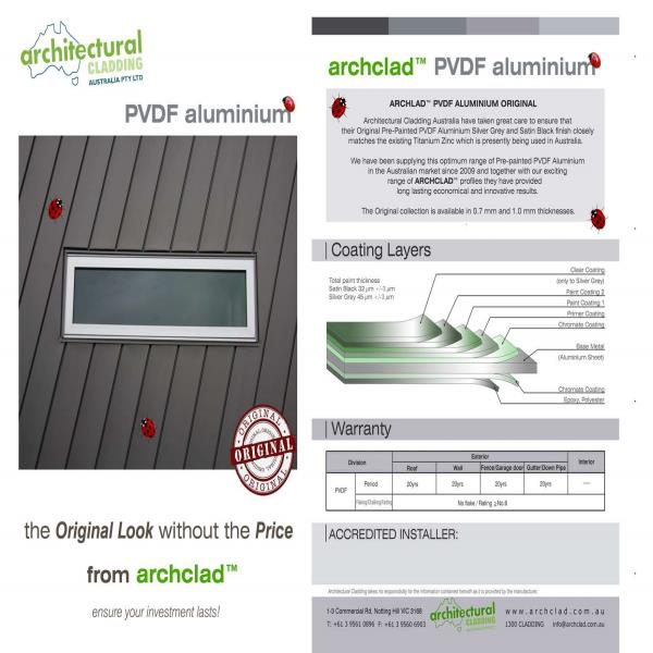 Original PVDF Aluminium Collection Brochure