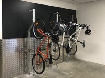 Airport bike racks
