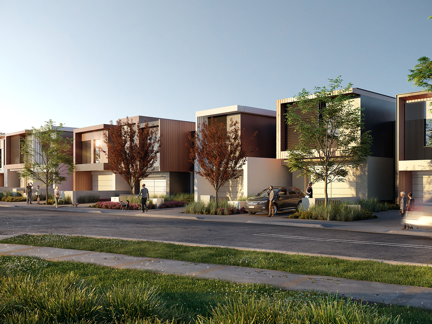 """Australia's first """"new age"""" townhouses in western Sydney"""