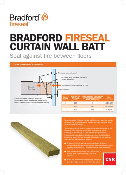 Fireseal Curtain Wall brochure