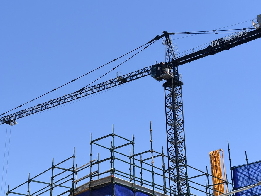The vast majority of cranes are used to build apartments. Photography by Paul Miller