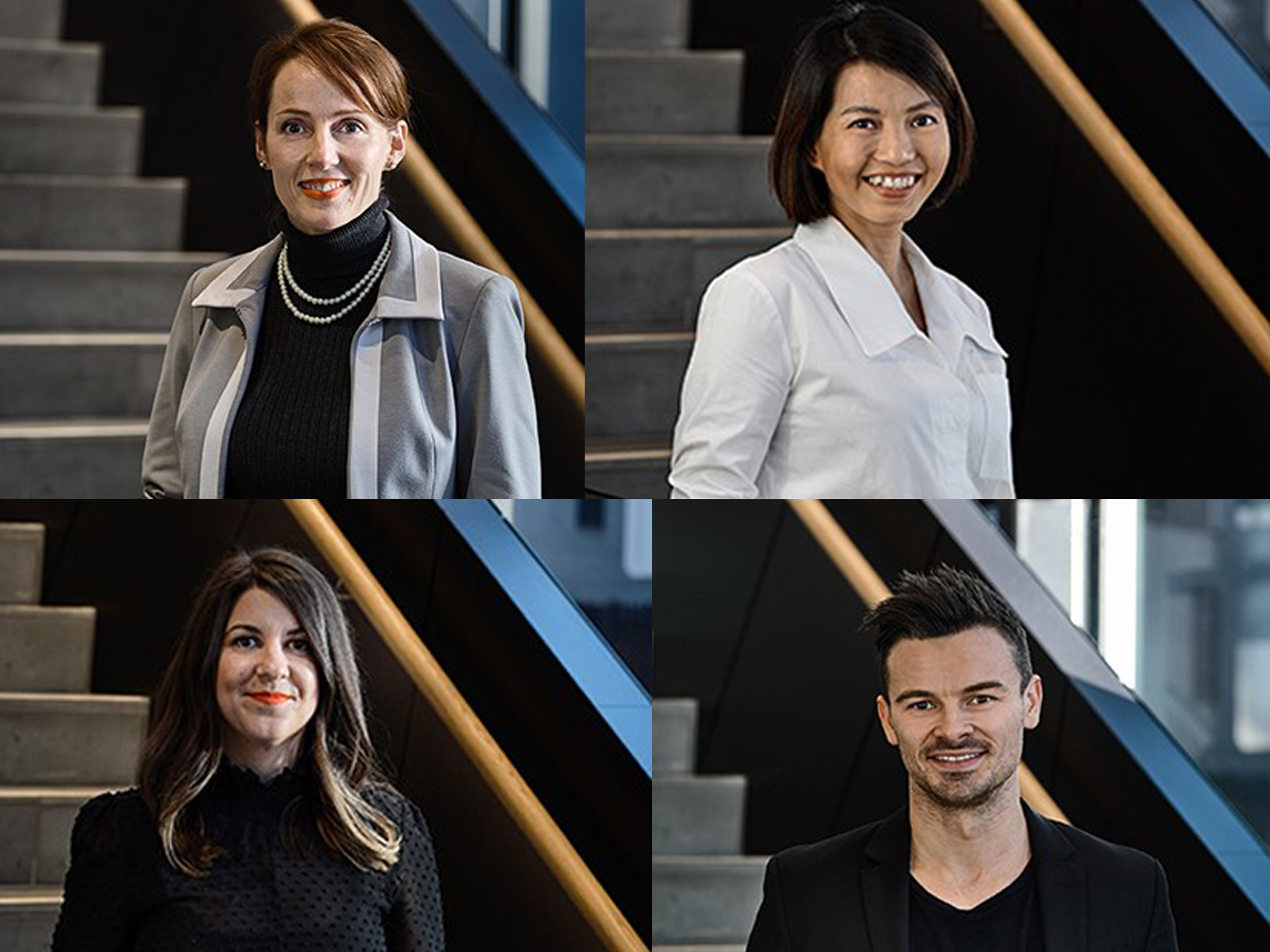From left to right: Ursula Gouws, Thanh Nguyen, Simone Tyson and Dominic Gaetani. Image: Supplied